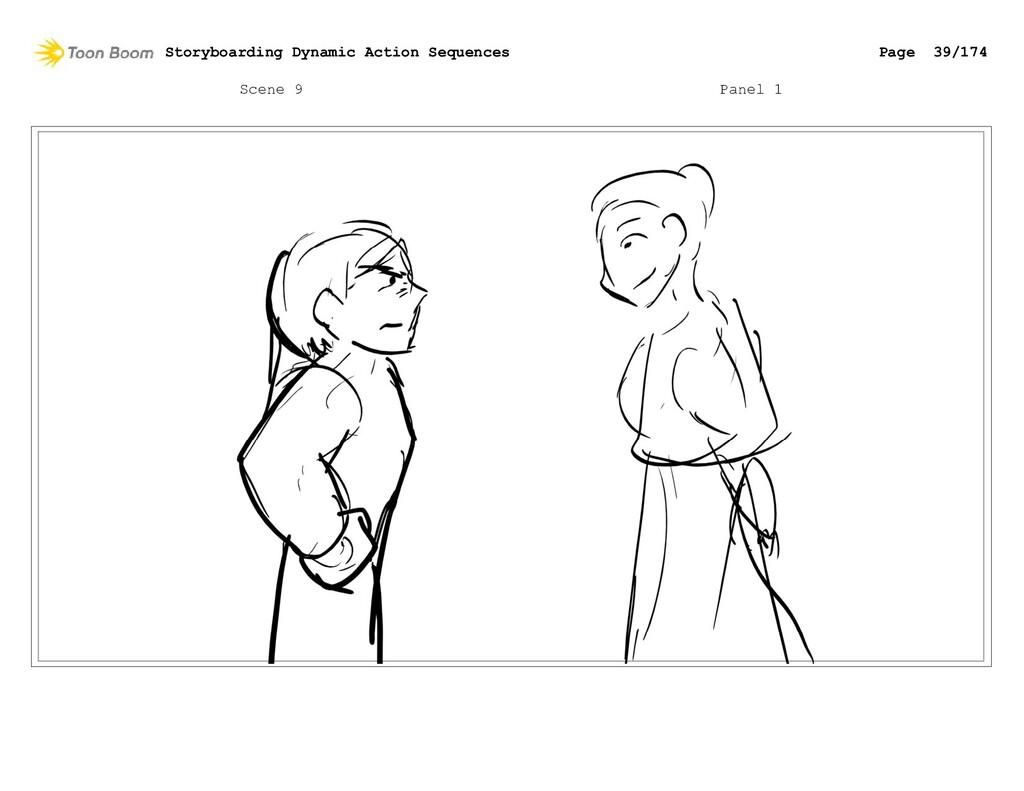 Scene 9 Panel 1 Storyboarding Dynamic Action Se...