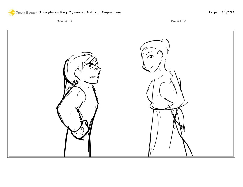 Scene 9 Panel 2 Storyboarding Dynamic Action Se...