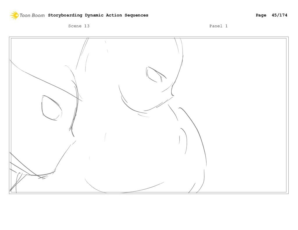 Scene 13 Panel 1 Storyboarding Dynamic Action S...