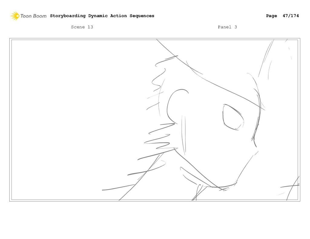 Scene 13 Panel 3 Storyboarding Dynamic Action S...