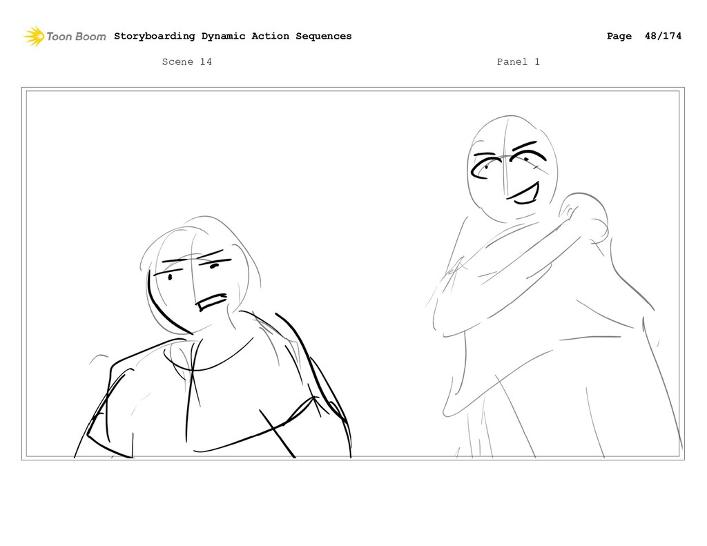 Scene 14 Panel 1 Storyboarding Dynamic Action S...