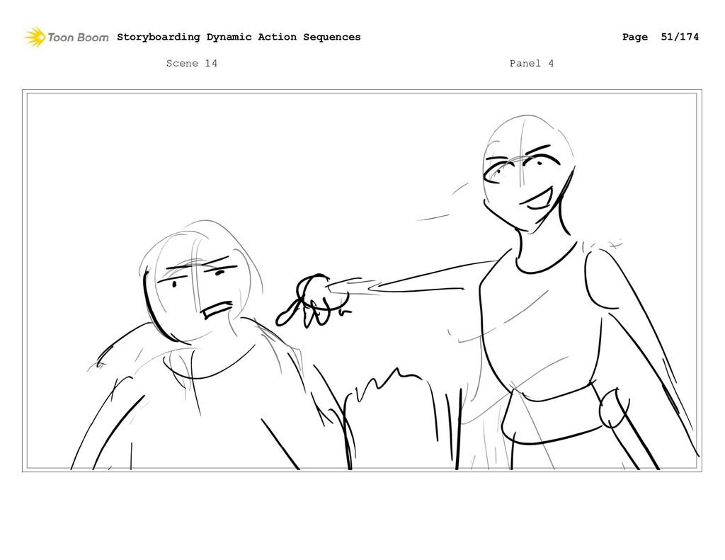 Scene 14 Panel 4 Storyboarding Dynamic Action S...
