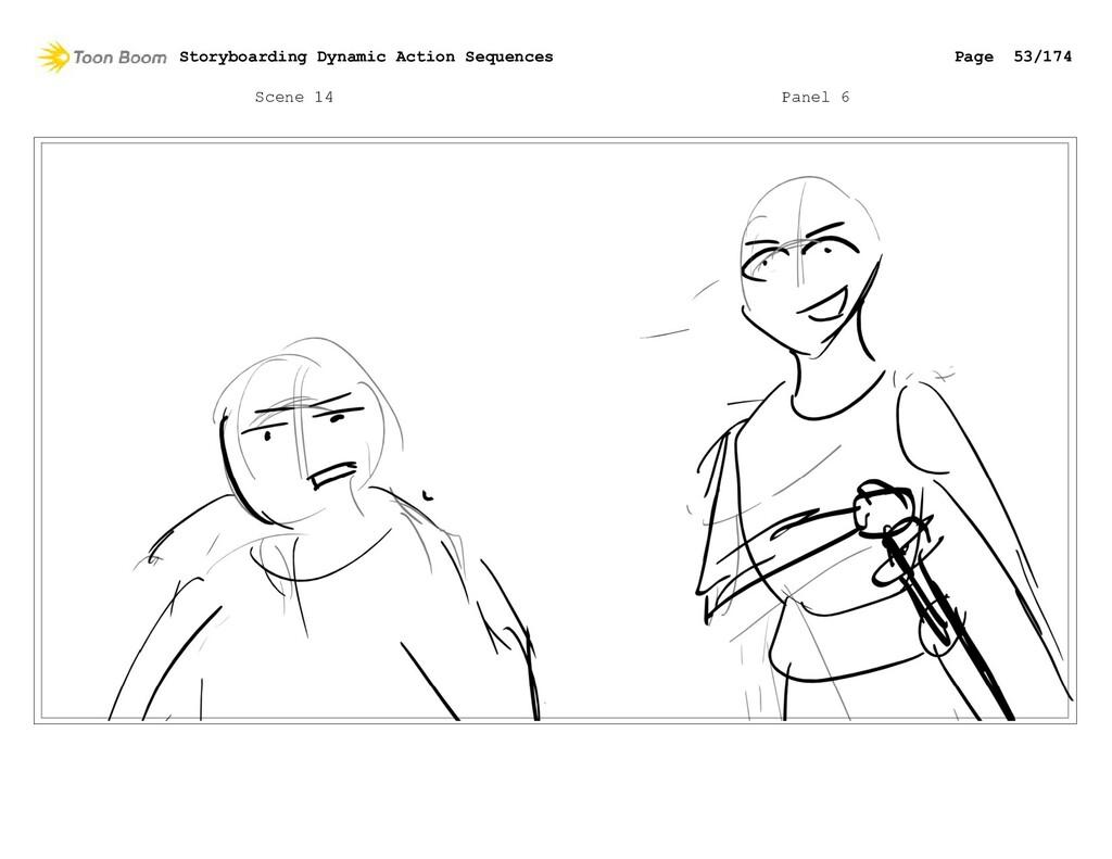 Scene 14 Panel 6 Storyboarding Dynamic Action S...