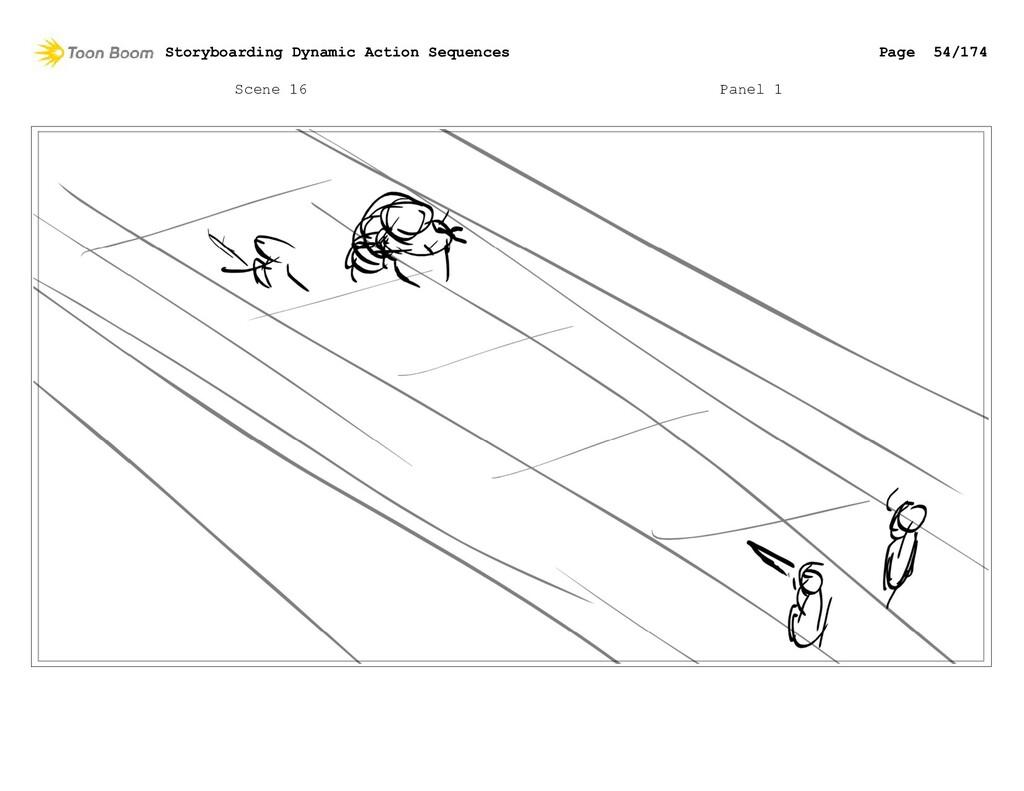 Scene 16 Panel 1 Storyboarding Dynamic Action S...