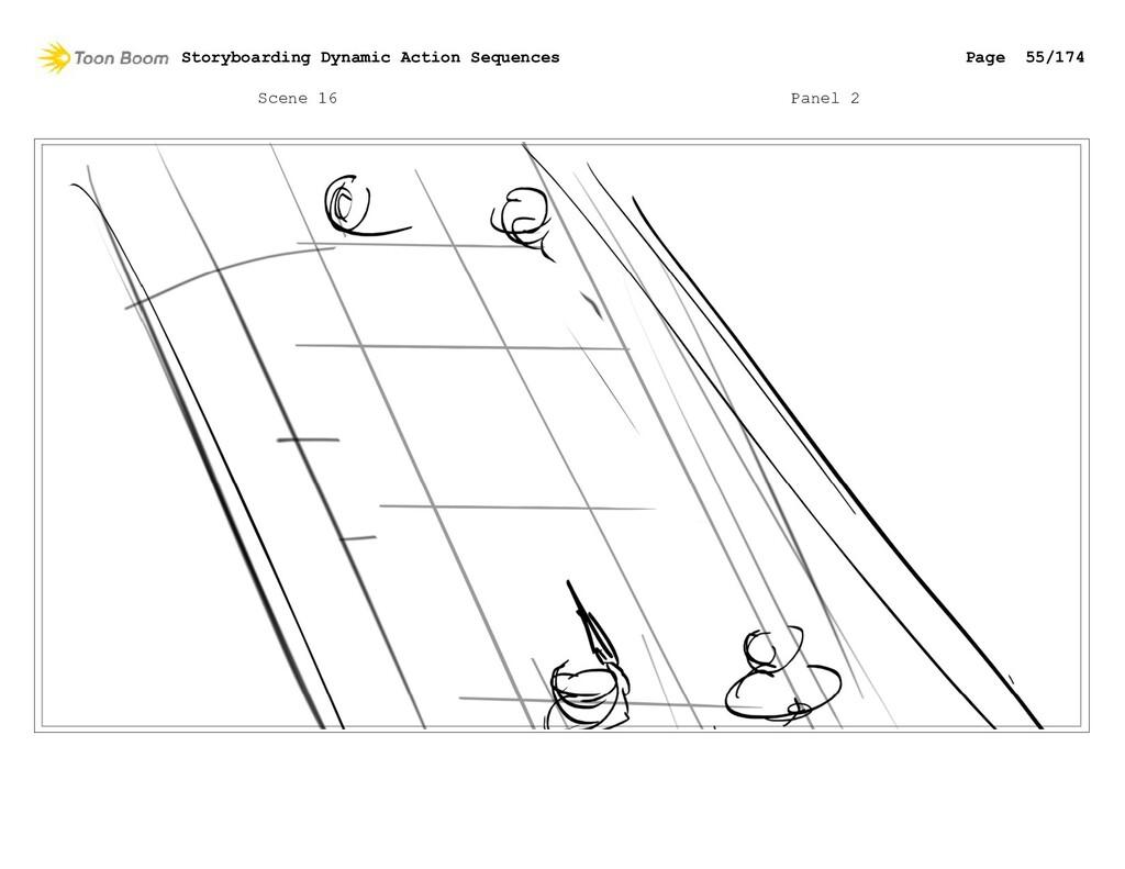 Scene 16 Panel 2 Storyboarding Dynamic Action S...