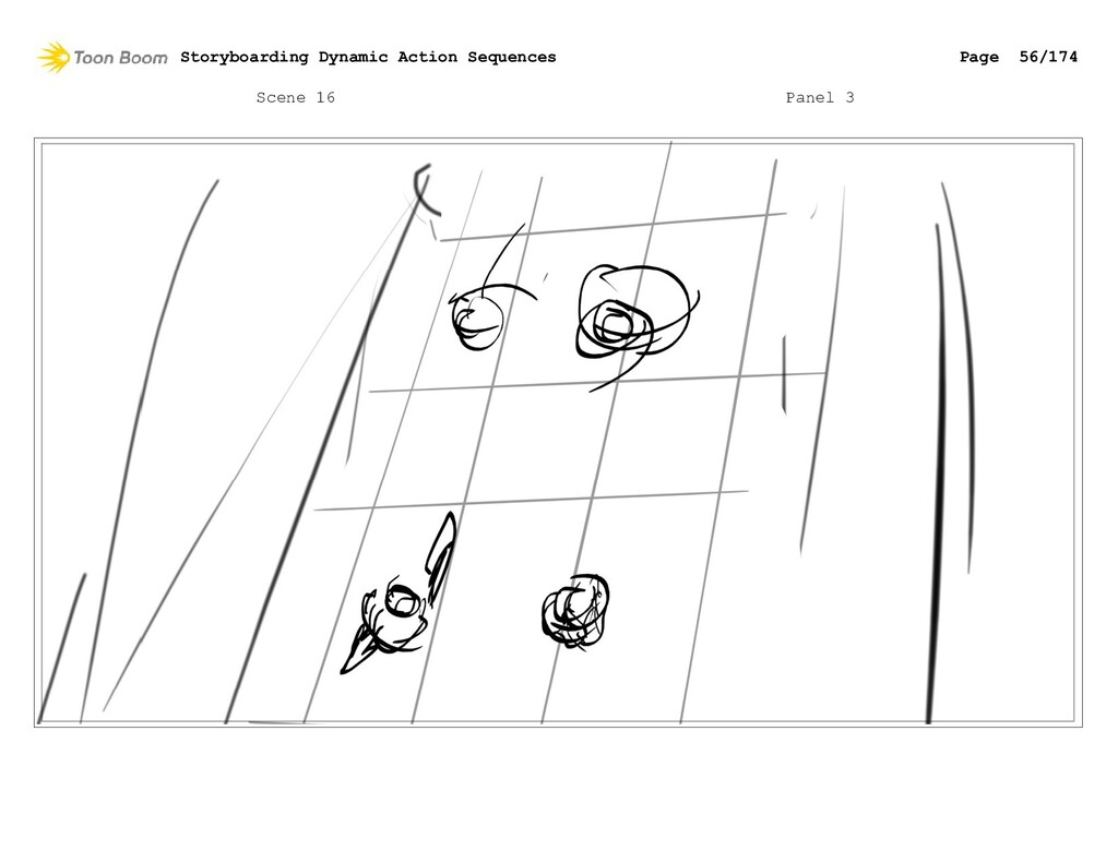 Scene 16 Panel 3 Storyboarding Dynamic Action S...