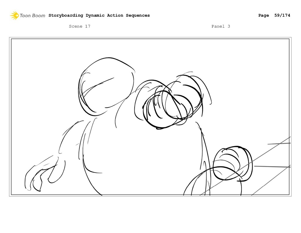 Scene 17 Panel 3 Storyboarding Dynamic Action S...