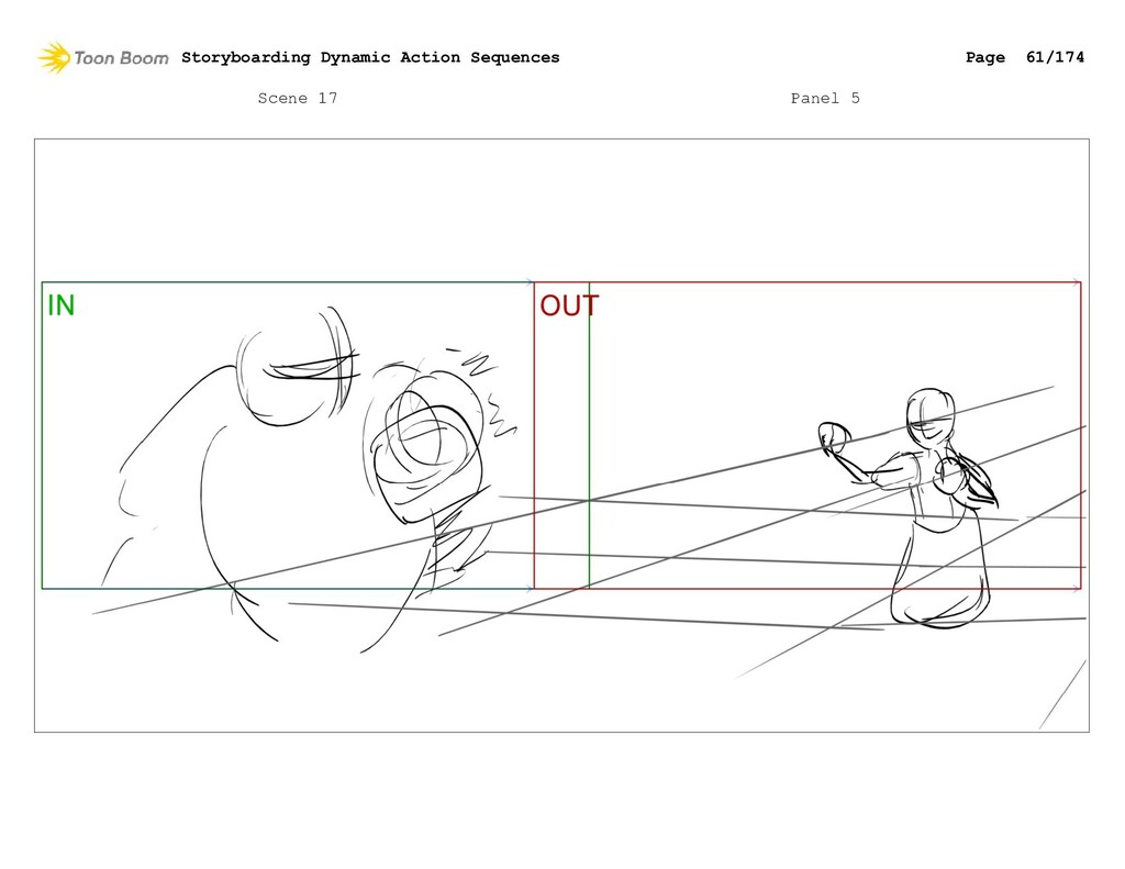 Scene 17 Panel 5 Storyboarding Dynamic Action S...