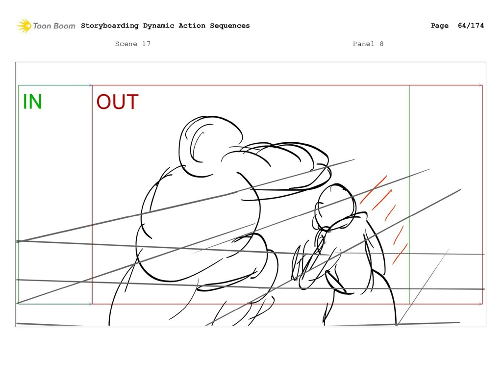 Scene 17 Panel 8 Storyboarding Dynamic Action S...