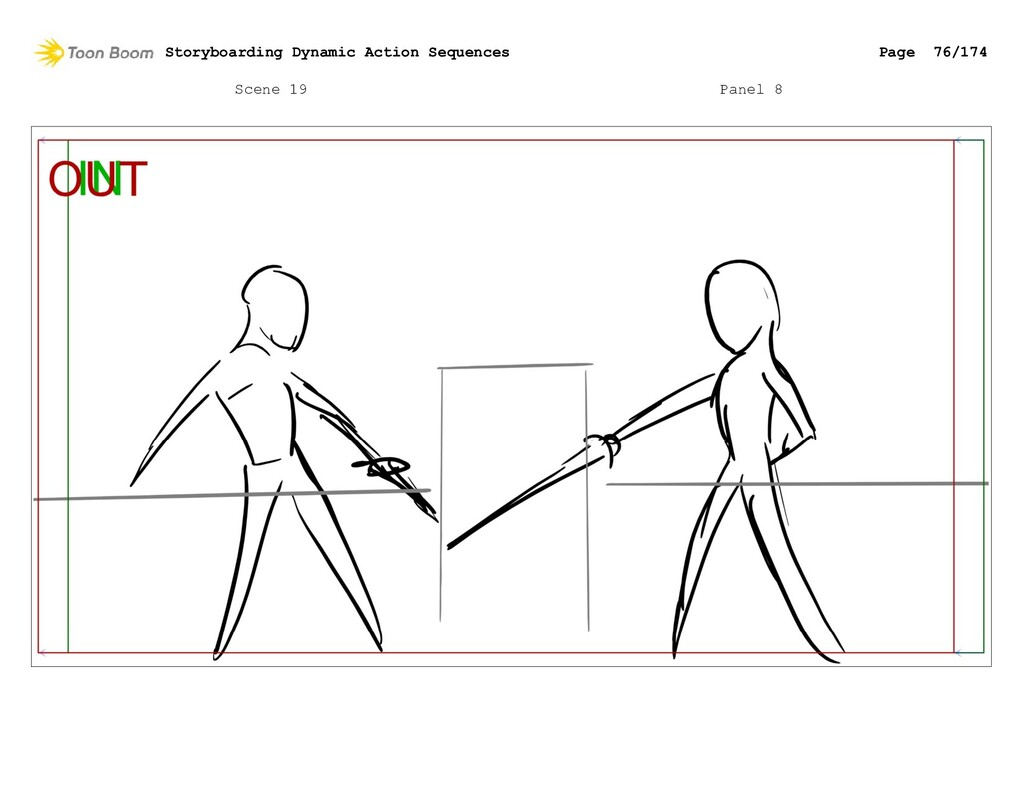 Scene 19 Panel 8 Storyboarding Dynamic Action S...