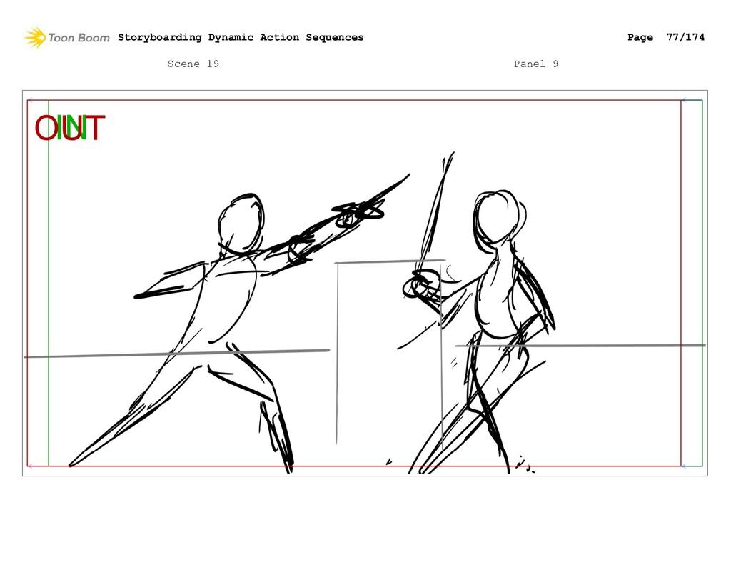 Scene 19 Panel 9 Storyboarding Dynamic Action S...