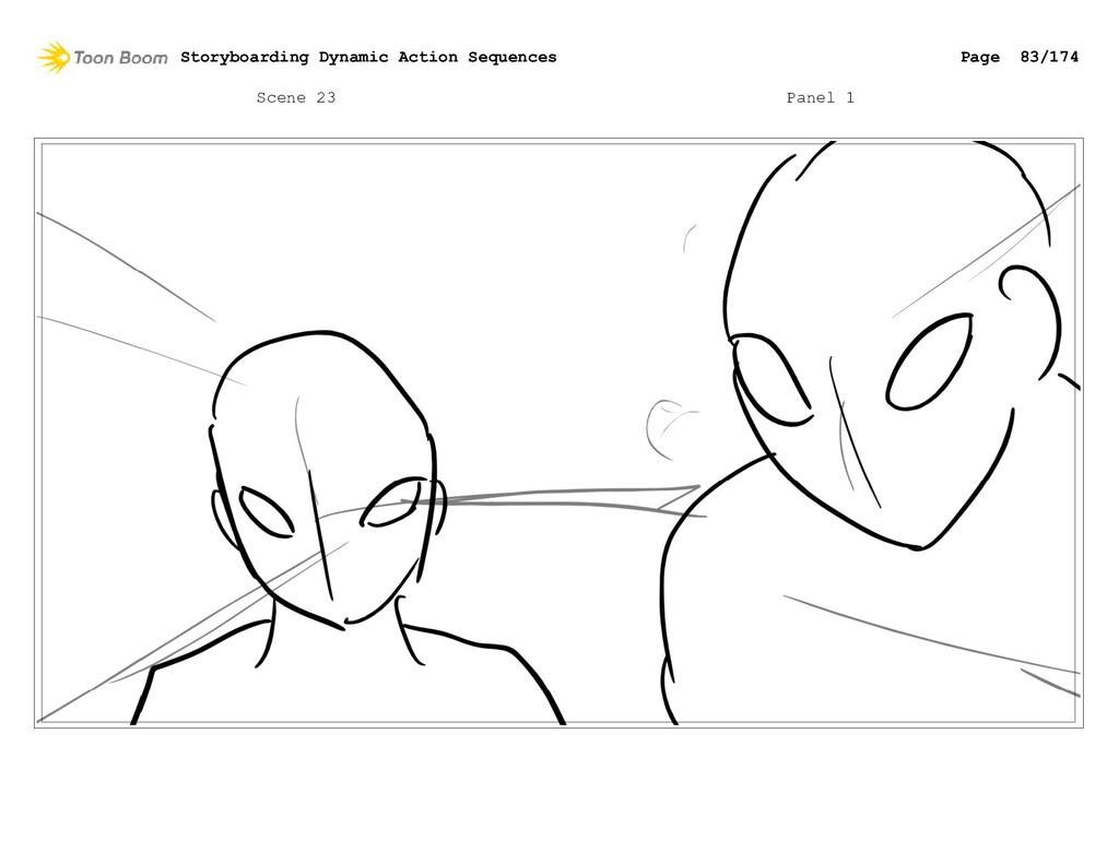 Scene 23 Panel 1 Storyboarding Dynamic Action S...