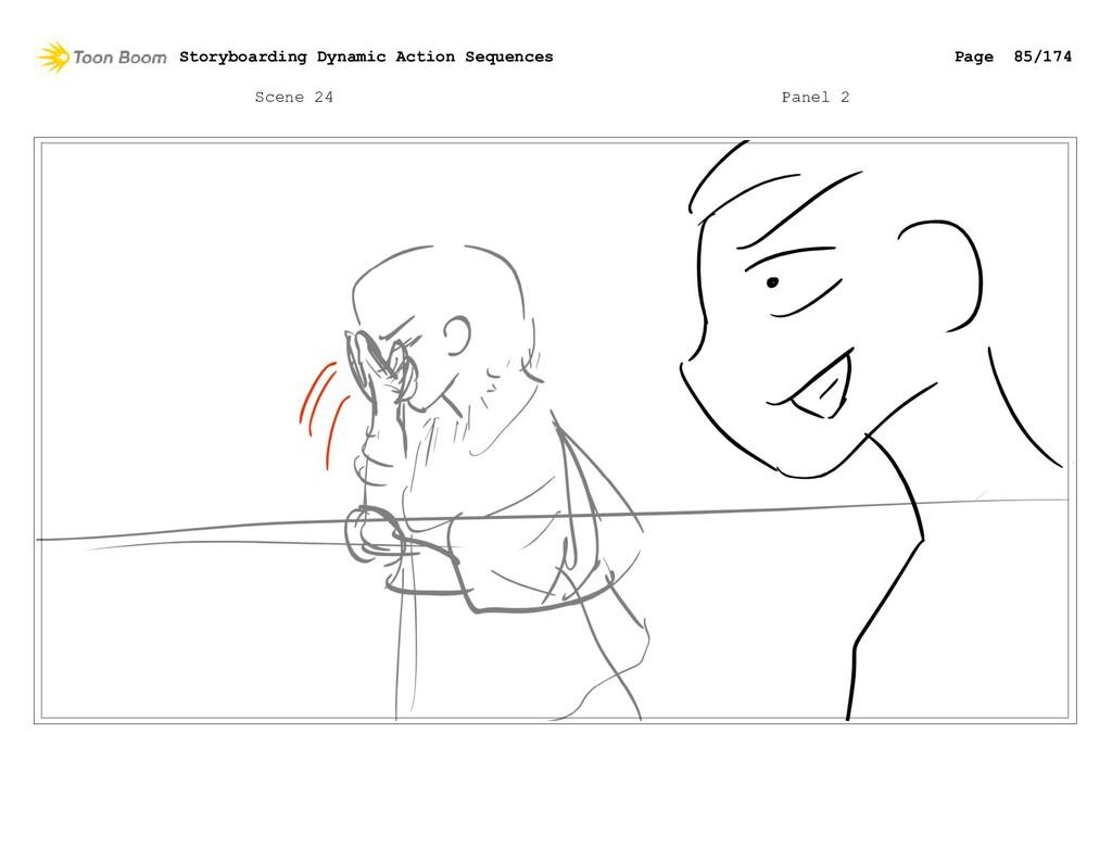 Scene 24 Panel 2 Storyboarding Dynamic Action S...