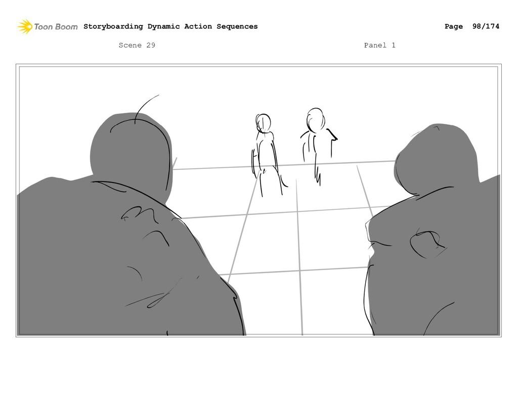 Scene 29 Panel 1 Storyboarding Dynamic Action S...