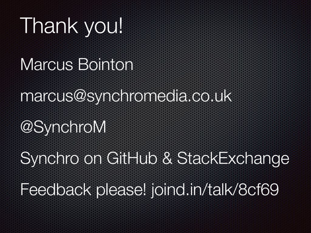 Thank you! Marcus Bointon marcus@synchromedia.c...