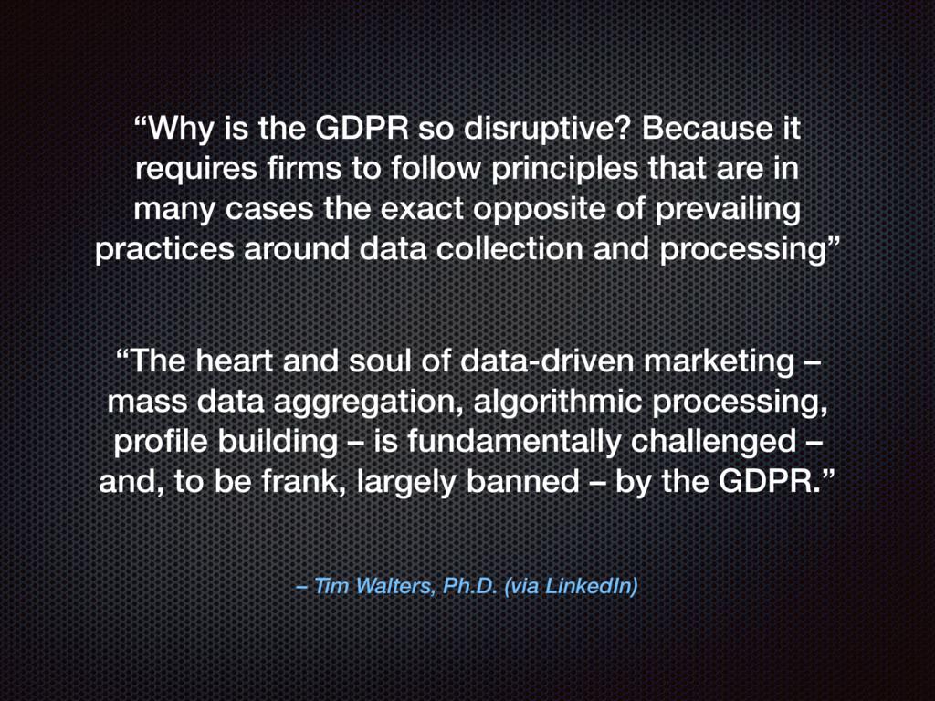 "– Tim Walters, Ph.D. (via LinkedIn) ""Why is the..."