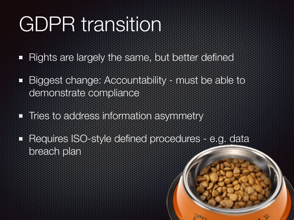 GDPR transition Rights are largely the same, bu...