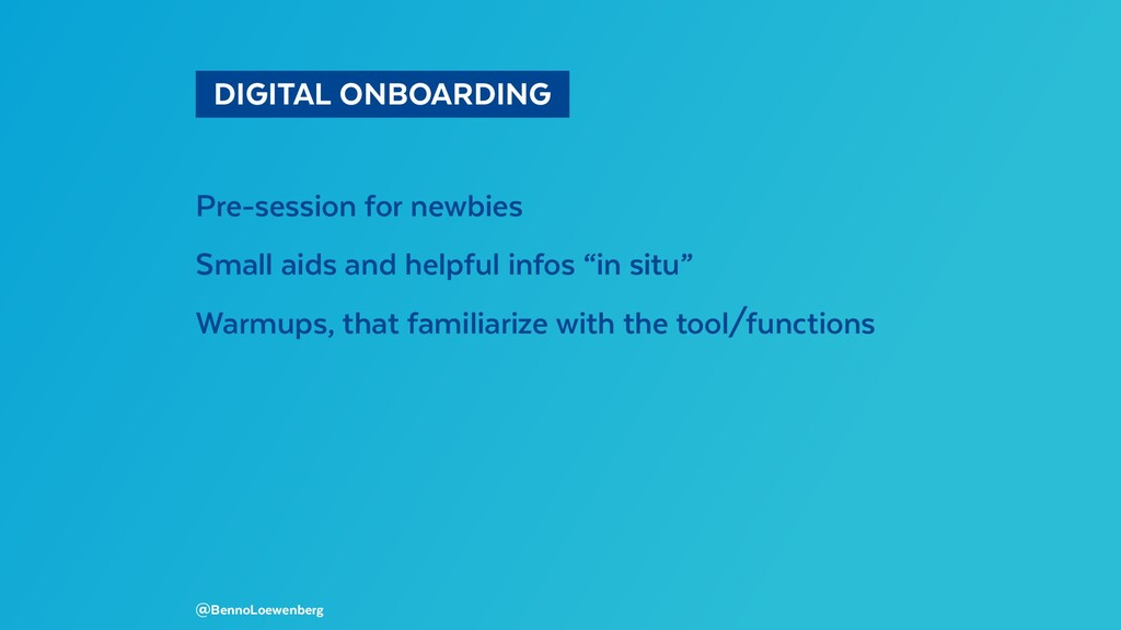 DIGITAL ONBOARDING Pre-session for newbies S...