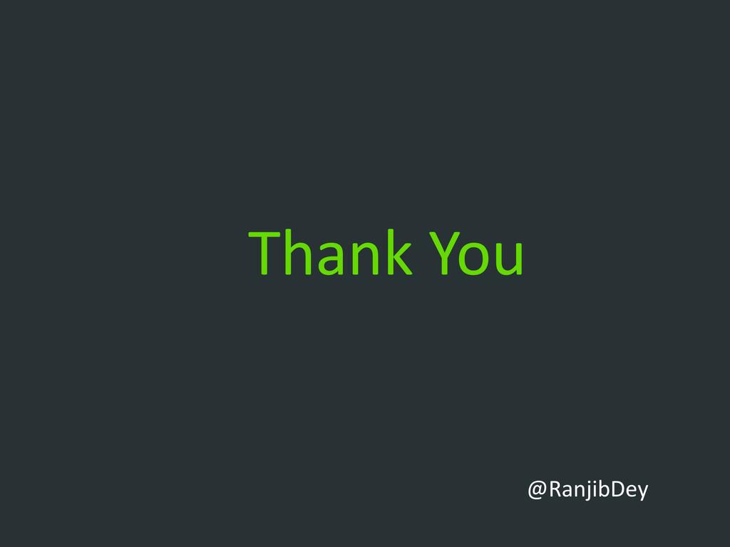 Thank You @RanjibDey