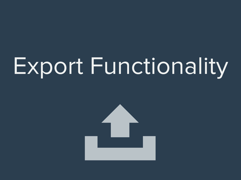 Export Functionality