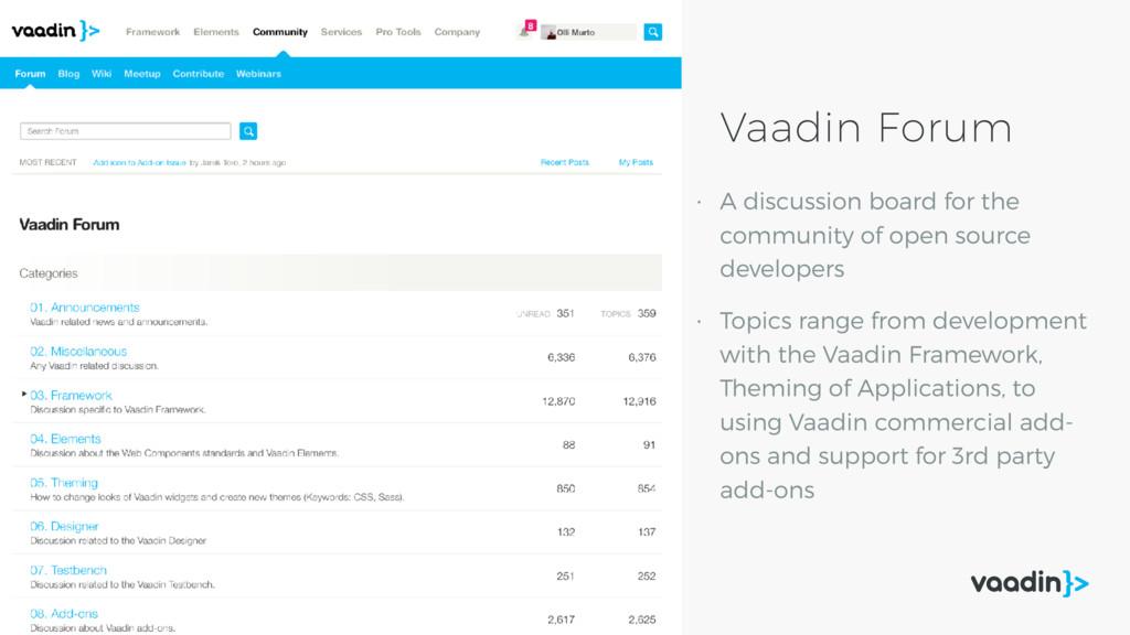 Vaadin Forum • A discussion board for the commu...