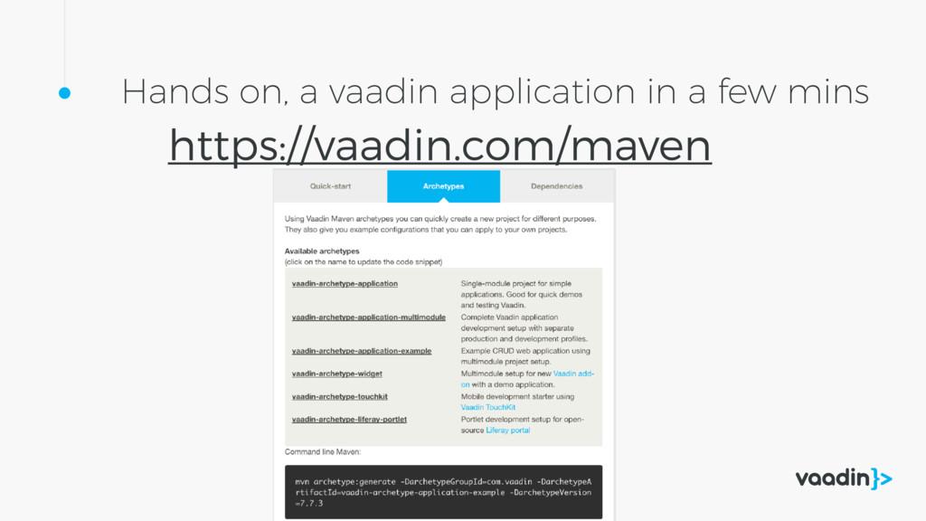 Hands on, a vaadin application in a few mins ht...
