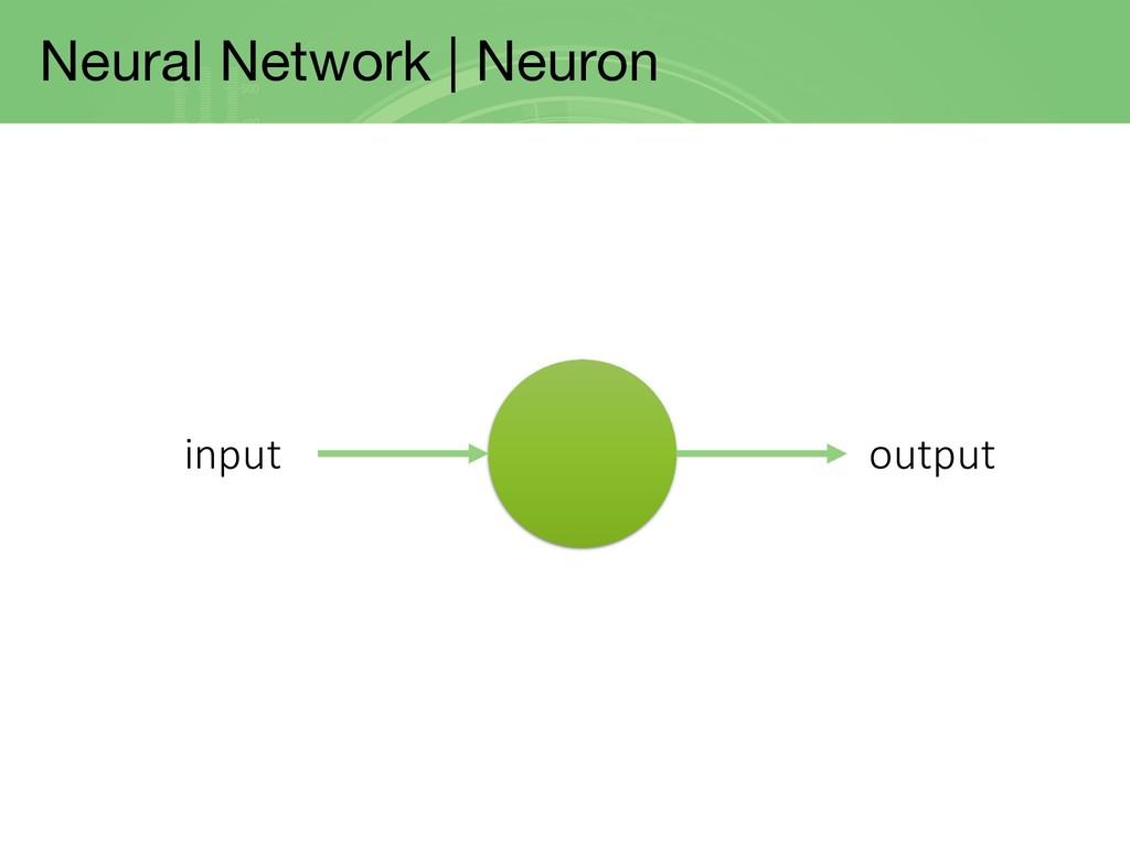 Neural Network | Neuron input output