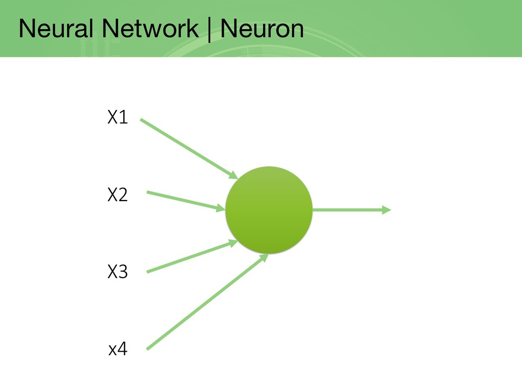 Neural Network | Neuron X1 X2 X3 x4