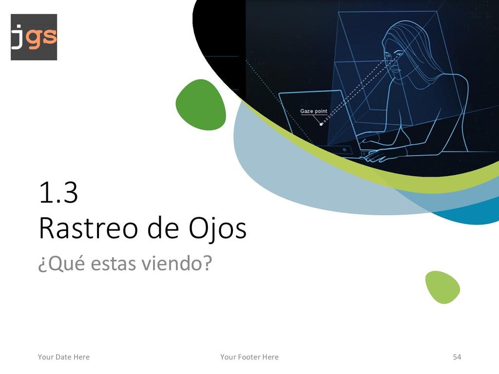 1.3 Rastreo de Ojos ¿Qué estas viendo? Your Dat...
