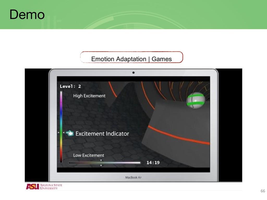 Demo 66 Emotion Adaptation | Games