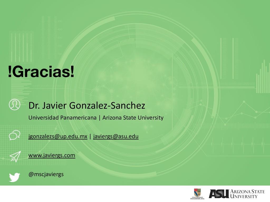 Dr. Javier Gonzalez-Sanchez Universidad Panamer...