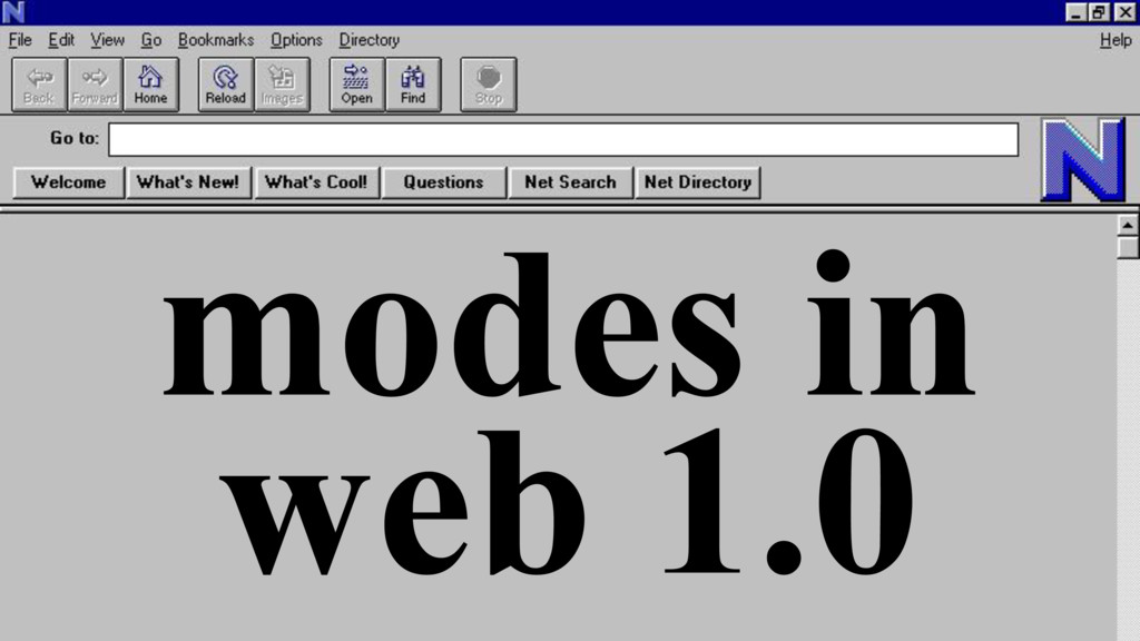 modes in web 1.0