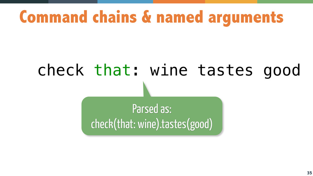 35 Command chains & named arguments check that:...