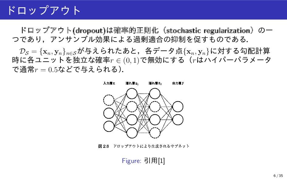 ドロップアウト ドロップアウト(dropout)は確率的正則化(stochastic regu...