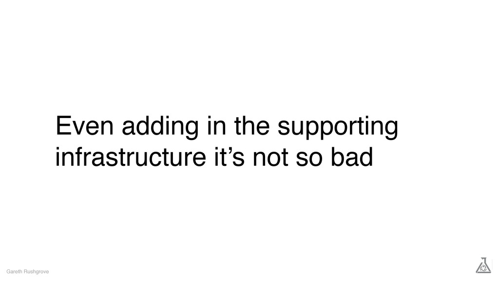 Even adding in the supporting infrastructure it...