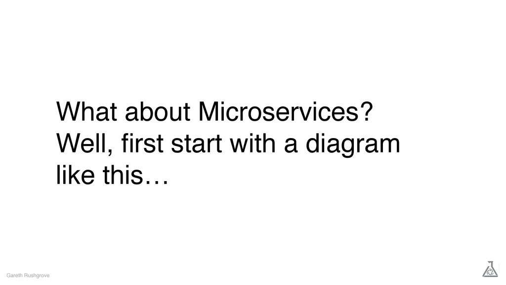 What about Microservices? Well, first start with...