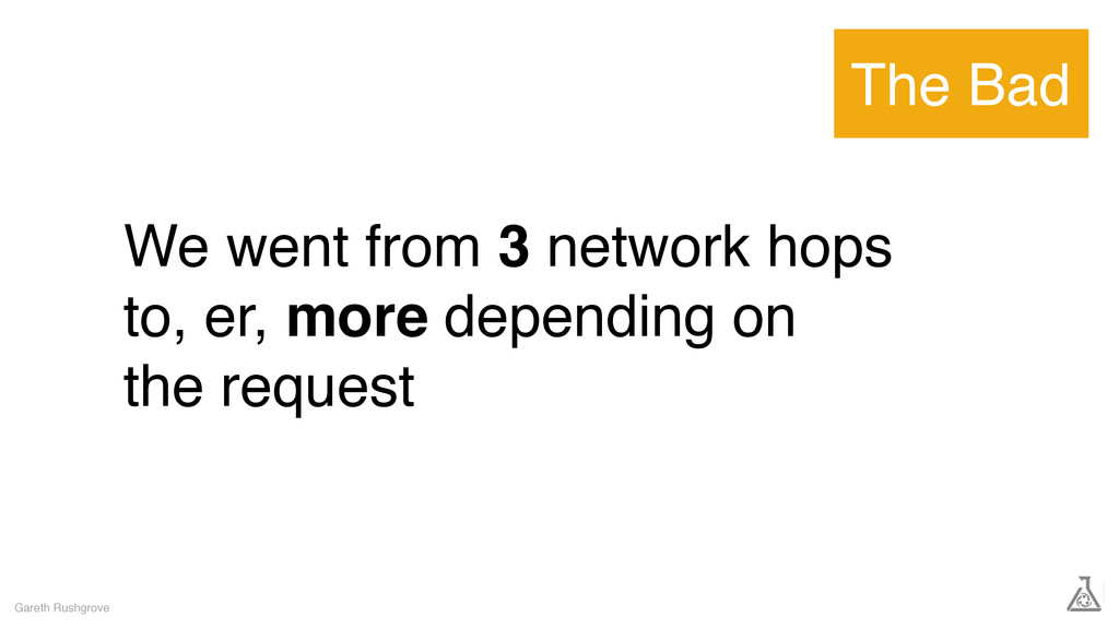 We went from 3 network hops to, er, more depend...