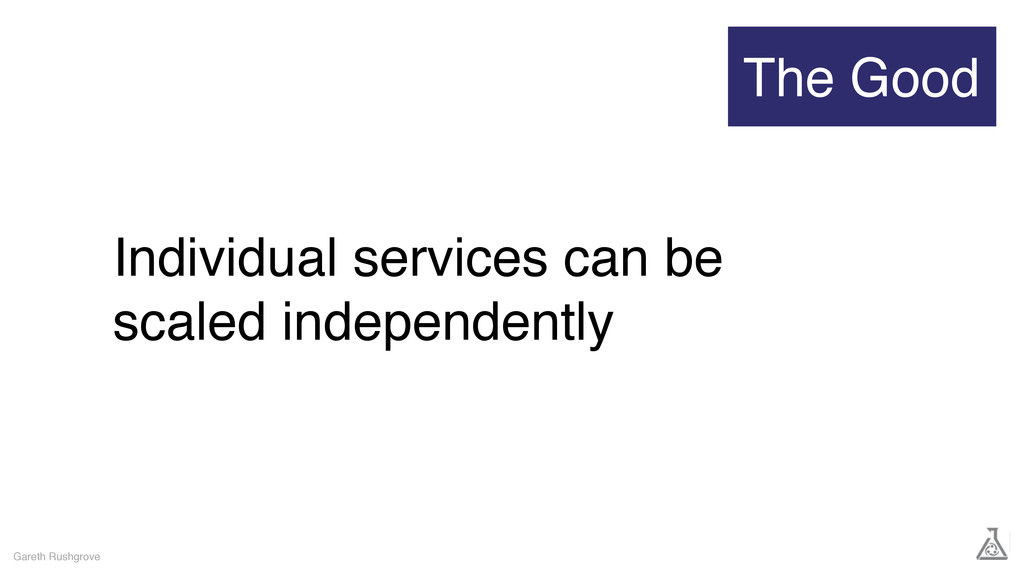 Individual services can be scaled independently...