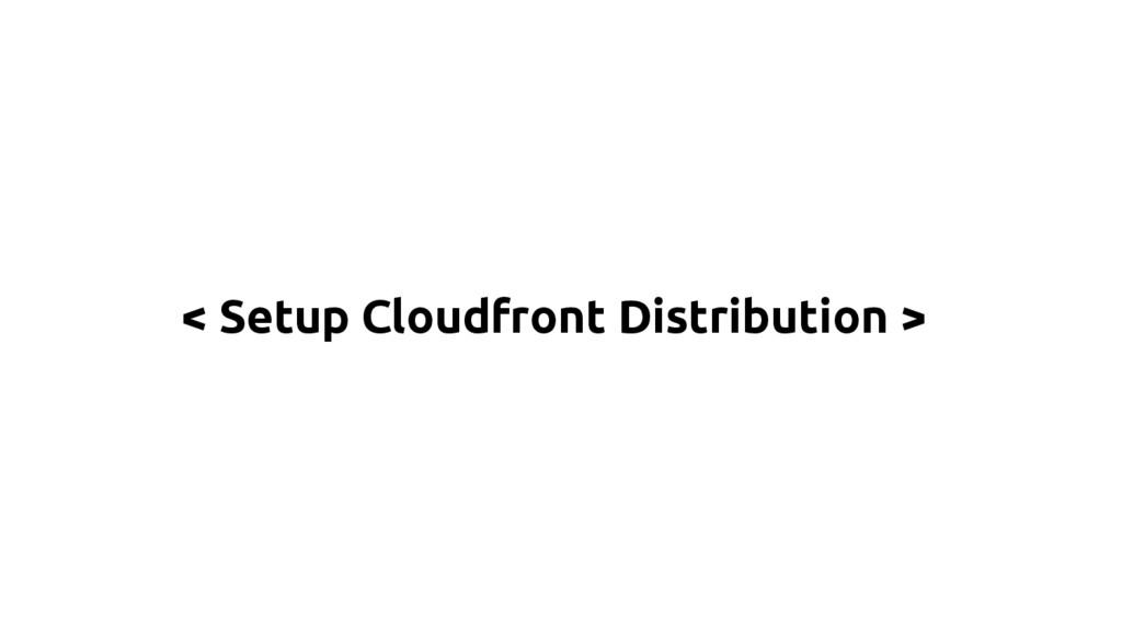 < Setup Cloudfront Distribution >