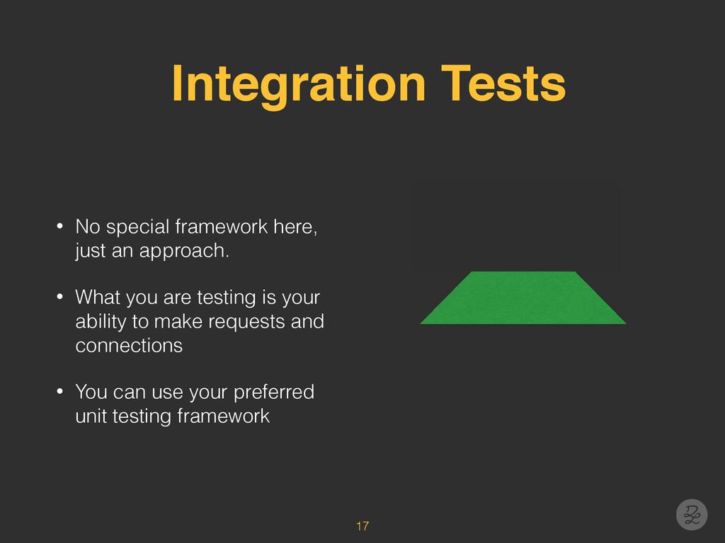 Integration Tests • No special framework here, ...