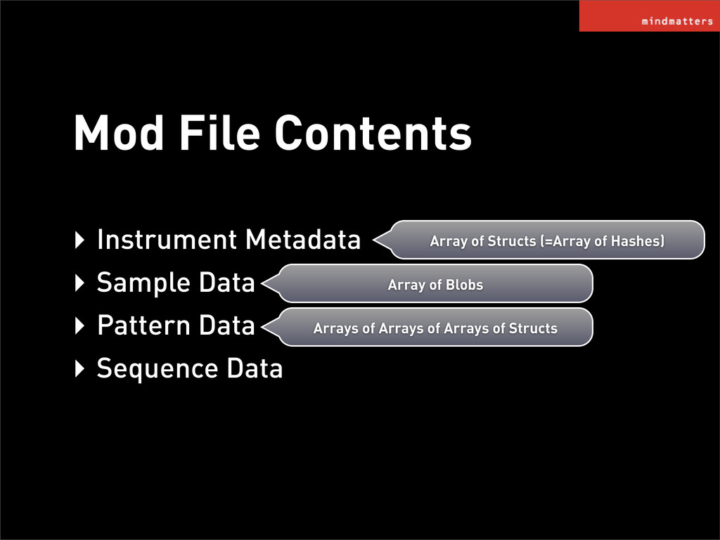 ‣ Instrument Metadata ‣ Sample Data ‣ Pattern D...