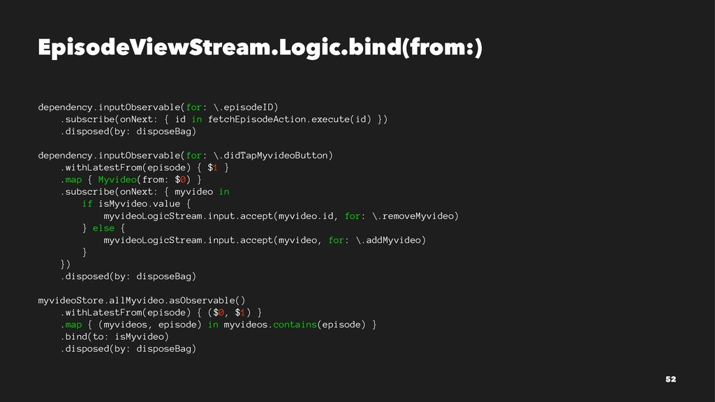 EpisodeViewStream.Logic.bind(from:) dependency....