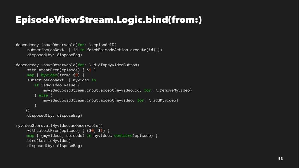 EpisodeViewStream.Logic.bind(from:) dependency....