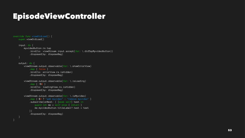 EpisodeViewController override func viewDidLoad...
