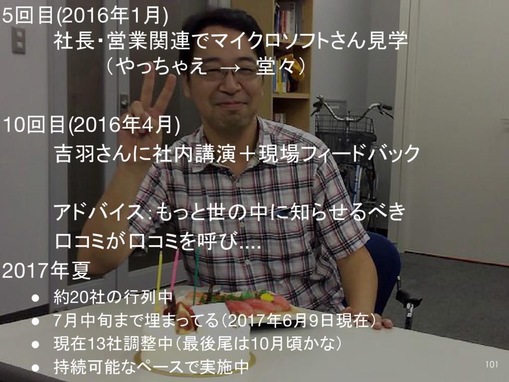 5回目(2016年1月) 社長・営業関連でマイクロソフトさん見学 (やっちゃえ → 堂々) 1...
