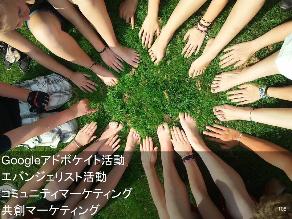 Googleアドボケイト活動 エバンジェリスト活動 コミュニティマーケティング 共創マーケティ...