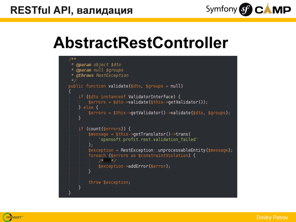 Dmitry Petrov AbstractRestController RESTful AP...