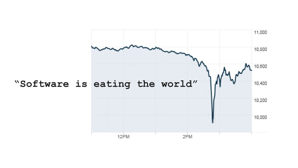 """""""Software is eating the world"""""""