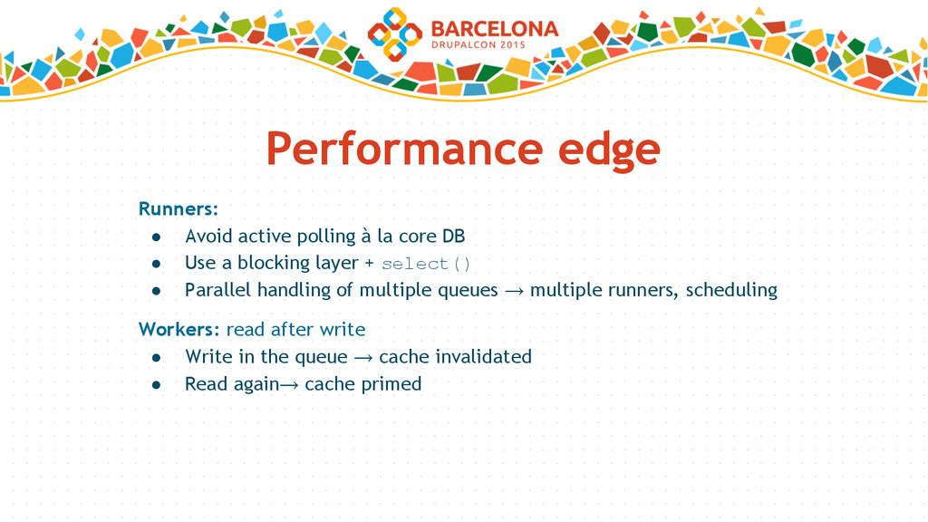 Performance edge Runners: ● Avoid active pollin...