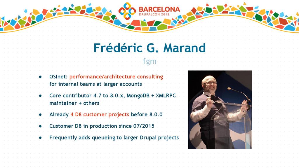 Frédéric G. Marand ● OSInet: performance/archit...